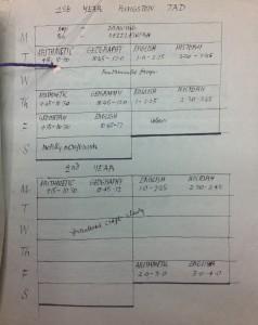 JAD Timetable