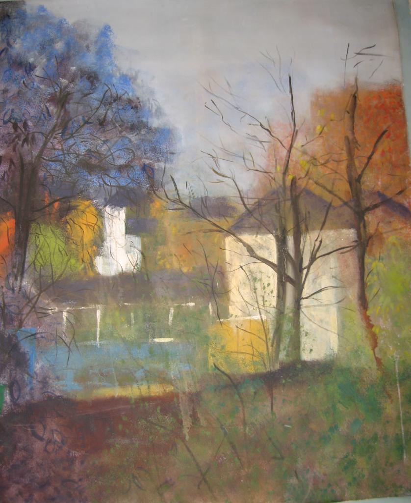 Christine Rollitt_Blue Trees_5ftx4ft 2nd year 1974