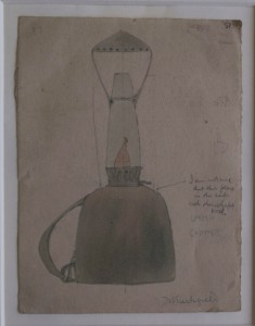 Denise Tuckfield, Deisgn for Lamp produced at Kingston School of Art c.1909-11. Image courtesy of Kingston Museum