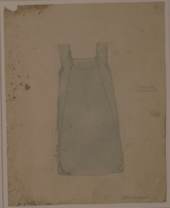 Denise Tuckfield, Design for a Kingston School of Art Smock, 1908. Courtesy of Kingston Museum & Heritage Service
