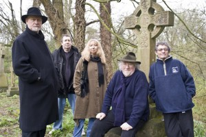 John Renbourn (seated), with the reformed Pentangle in 2008