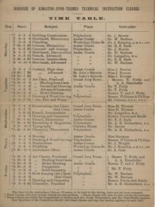 Instruction Classes Brochure