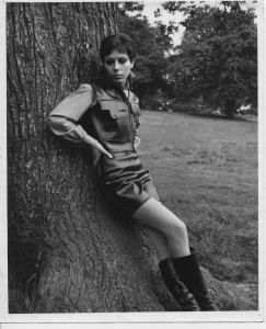 Carol Sanderson modelling June Purchas - 2