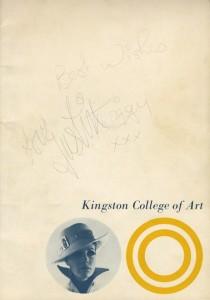 KCA Fashion Show - '67? signed Twiggy - lo