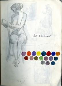 KMCAT015_Barbara Freeman Sketch Art School Model
