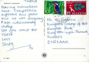 KMCAT023_St Gall Postcard 8th March 66