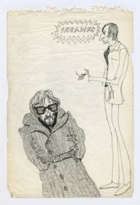 Caricatures of Paul Wood and Alan Page