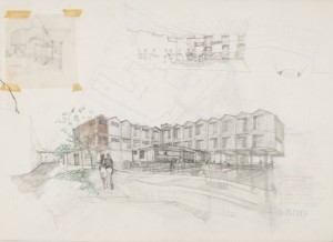 Robert Voticky, Hotel 'Quay' Development project, perspective drawing