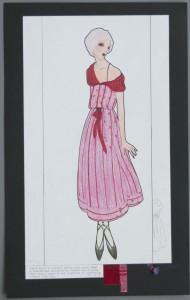 Gypsy dress in striped cotton