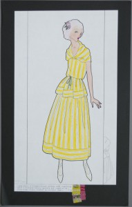 Gypsy dress in flower-striped cotton