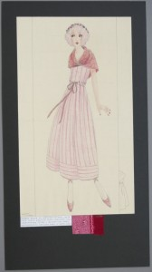 Summer dress in striped cotton