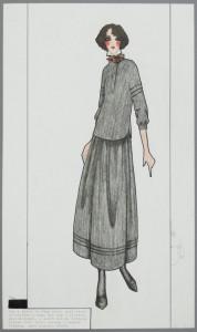 Top & skirt in fine wool