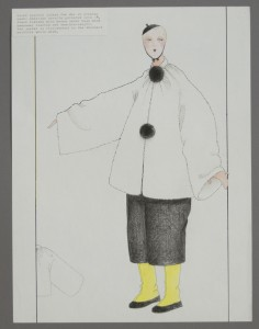 Giant pierrot jacket for day or evening wear