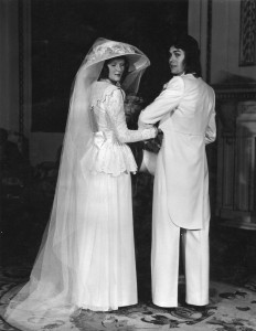 'Bride and Groom' at dress show Goldsmiths Hall 1972
