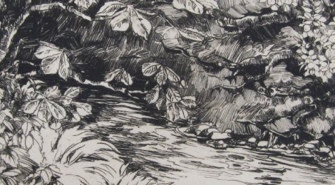 Barbara Constance Freeman, sketch of Hogsmill 1926