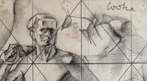 Warner Cooke life drawing sketch, 1930s