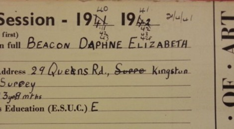 Daphne Beacon registration card