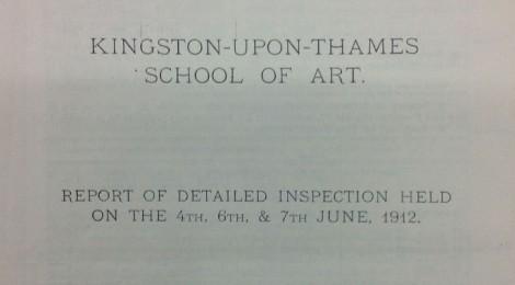Inspection of Kingston-upon-Thames Art School, November 1936