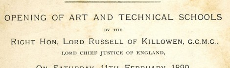 Invitation to Opening of Kingston School of Art, 1899