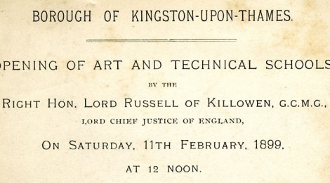 Invitation to Opening of Kingston School of Art, 1899