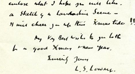 L.S. Lowry Letter