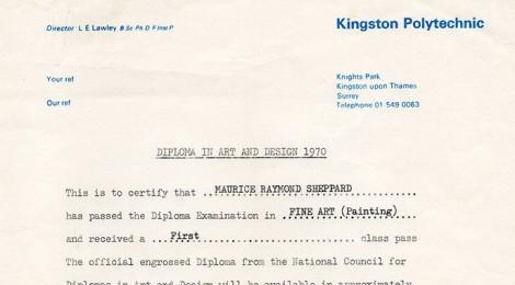 DipAD Certificate 1970
